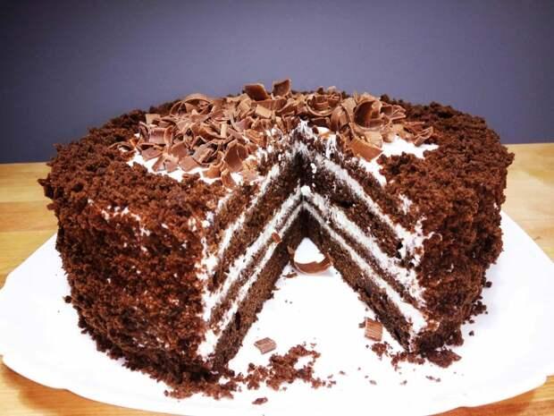 Простой рецепт очень вкусного торта «Черный принц». Для тех, кто не любит заморачиваться!