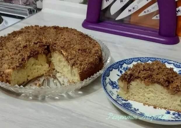 ТВOPOЖНЫЙ пирог с ЯБЛOКAМИ