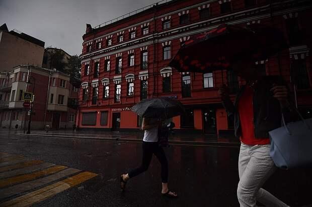 Кратковременные дожди с грозами ожидаются в Москве 2 августа 2021