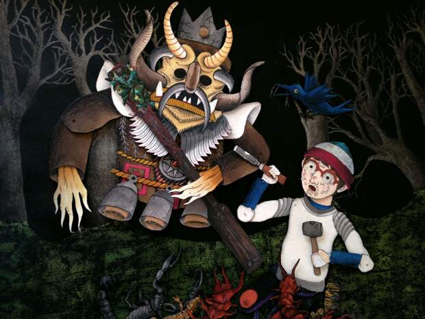 Кадр из м/ф «Парк кошмаров», 2015 г., реж. Али Муритиба, Франсиско Гуссо, Педро Джионго