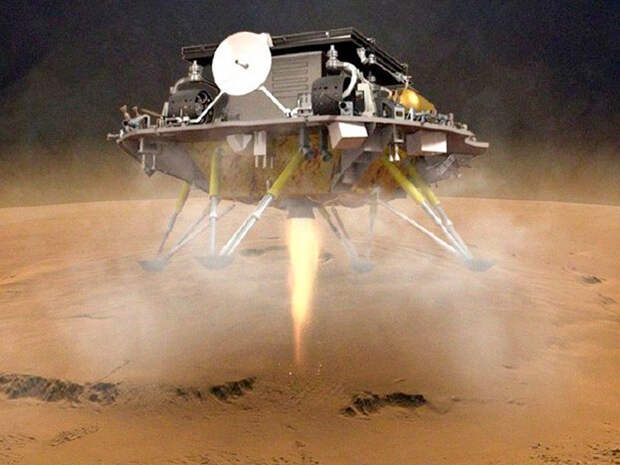 Китайский марсоход Чжужун совершил посадку на Марсе