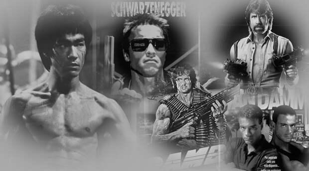 Герои боевиков эпохи видеосалонов