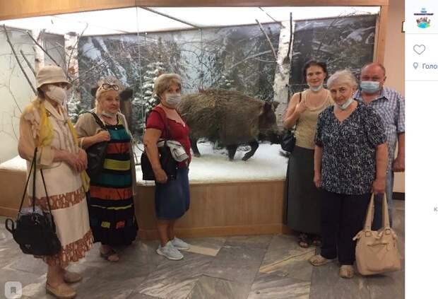 Пенсионеры из Лефортова посетили единственный в России музей охоты и рыболовства
