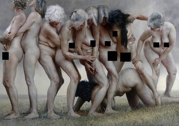 Провокационные портреты этой художницы показывают, как выглядит неидеальное тело человека