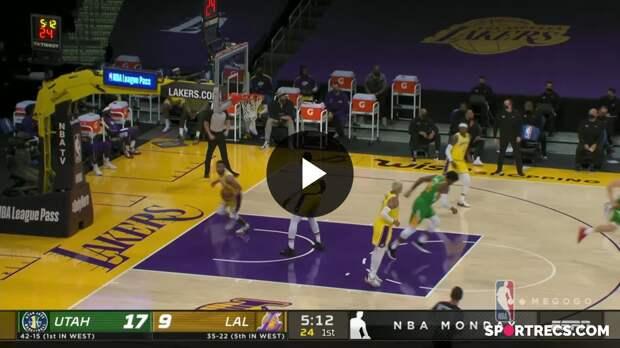 НБА. Лос-Анджелес Лейкерс — Юта Джаз: лучшие моменты игры от 20 апреля