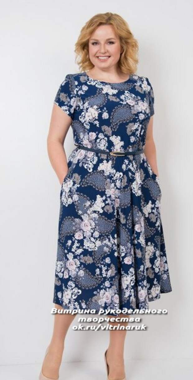 Летние платья с простыми выкройками для пышных дам.