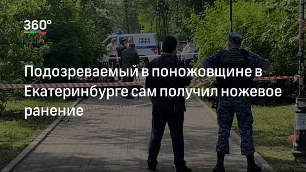 Подозреваемый в поножовщине в Екатеринбурге сам получил ножевое ранение