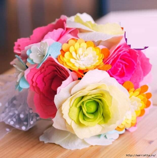 Ручная работа. Цветы из ткани (32) (638x643, 219Kb)