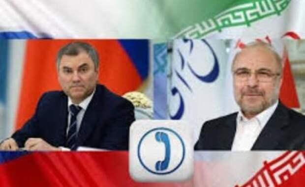 Спикеры парламентов России иИрана выступили запрекращение боёв вКарабахе
