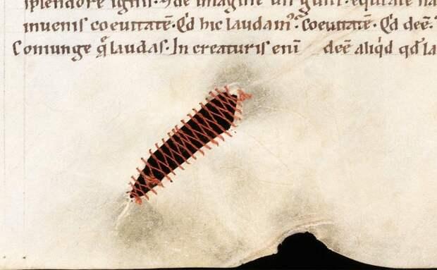 Страница средневековой книги.