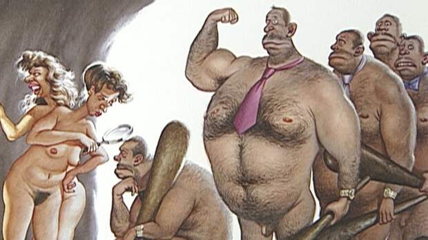 Естественный отбор. Сатира от Gerhard Haderer.