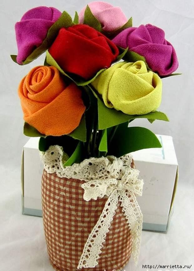 Ручная работа. Цветы из ткани (35) (472x659, 221Kb)