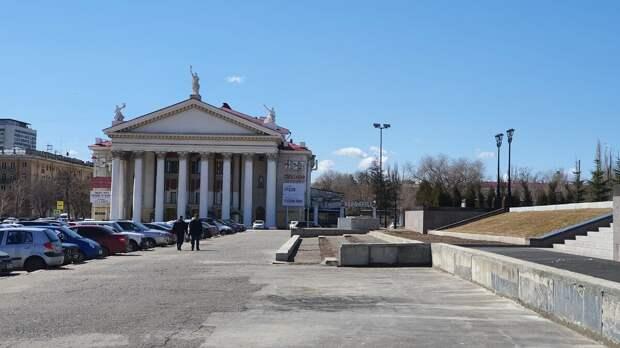 Здание Волгоградского драматического театра. Современный вид.