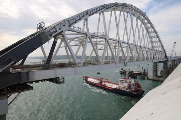 Russia Ukraine Crimea Azov Kerch Strait bridge cargo ship