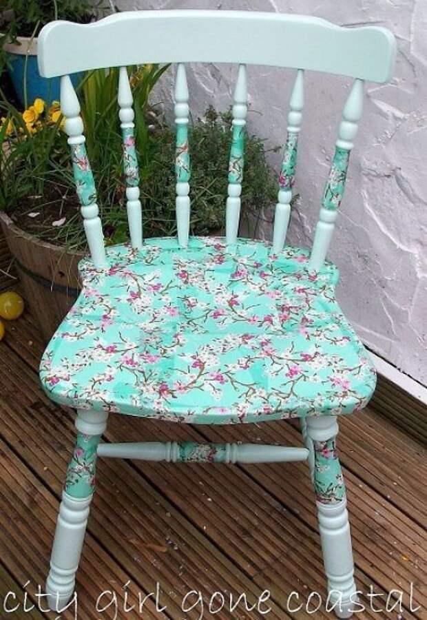 пэчворк или декупаж переделка кресла стула