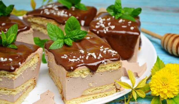 Творожный торт без выпечки за 20 минут: нежный кремовый вкус
