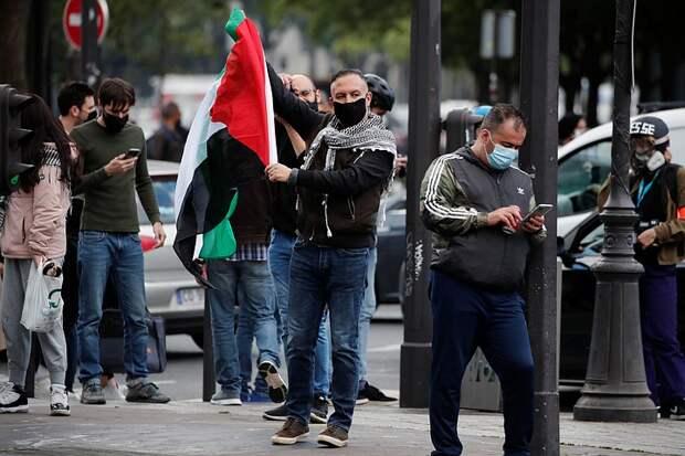 В Париже полиция применила слезоточивый газ и водомёты на акции в поддержку Палестины