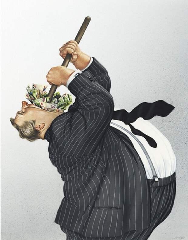 Провокационные карикатуры, которые довели до тюрьмы художника Герхарда Хадерера