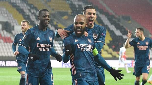 «Арсенал» забил 4 гола «Славии» и вышел в полуфинал Лиги Европы