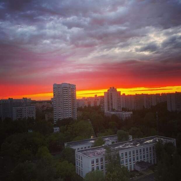 Фото дня: закатное Лианозово