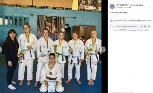 На турнире по дзюдо Савеловские спортсмены взяли восемь медалей