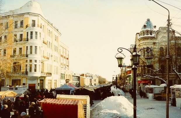 Самара. Торговля на улице Ленинградской в 1990-е гг.