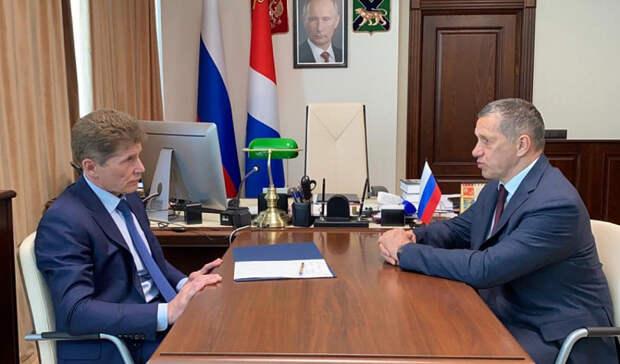 ВКАД,«Звезда», Русский: Трутнев иКожемяко обсудили развитие ключевых зон Приморья