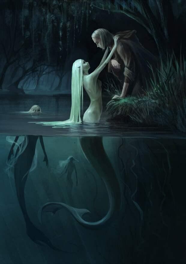 Встреча со злой русалкой! Жуткая мистическая история