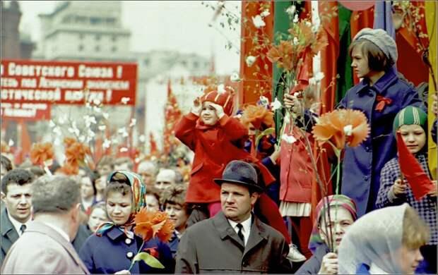 Первомайская демонстрация в СССР.