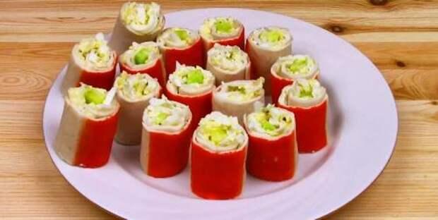 Необычная закуска из обычных крабовых палочек на Новый Год за 15 минут