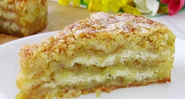 Яблочная вкуснотень: пирог тающий во рту! Простой и быстрый рецепт