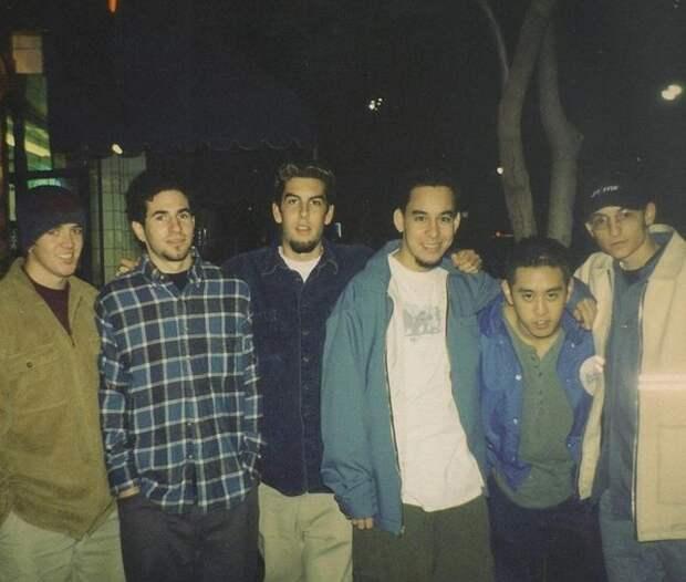 Первое фото группы Linkin Park с Честером Беннингтоном, 1990-е.
