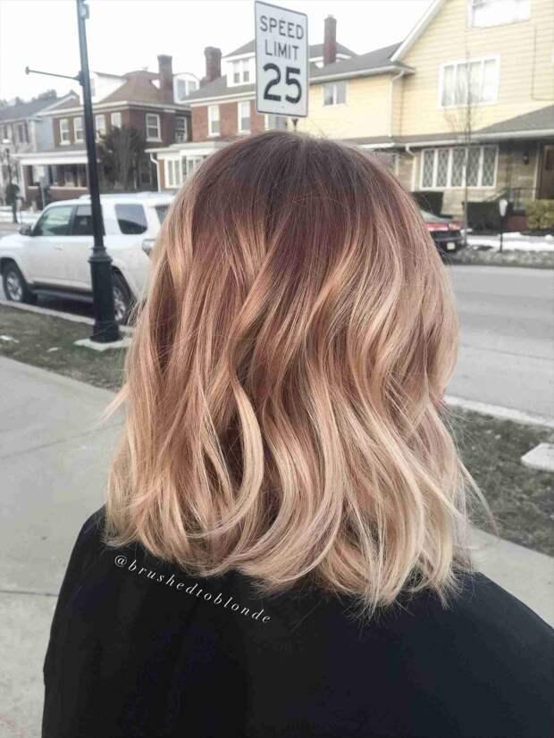 Балаяж на средние волосы: фото 7