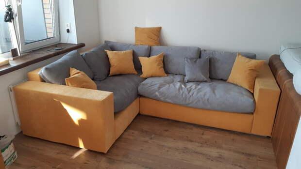 Большой угловой диван своими руками