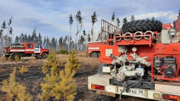Три лесных пожара потушили в Иркутской области за выходные