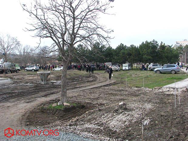 Парковая зона вдоль улицы Гурзуфской – место проведения городских массовых мероприятий.