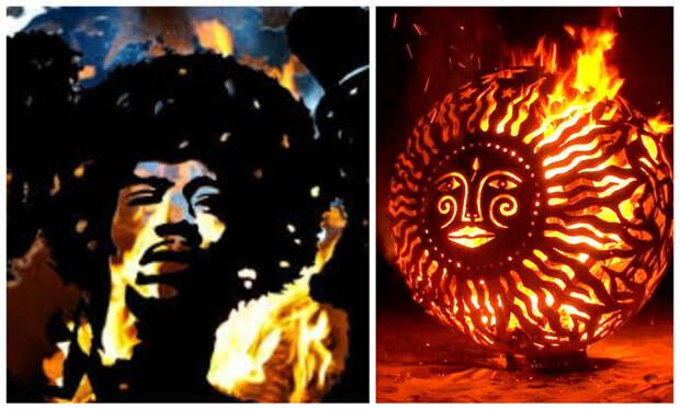 Невероятные уличные передвижные очаги - огненное искусство