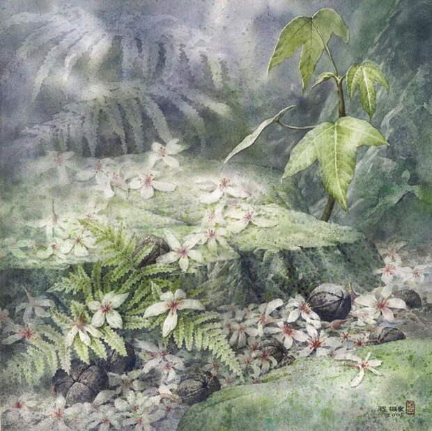 """""""Когда рисуешь ветвь, нужно слышать дыхание ветра..."""" Тайваньский художник Сhen-Wen Cheng"""