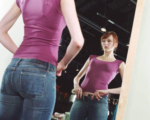 Вставки из ткани и трикотажа - как увеличить джинсы в поясе
