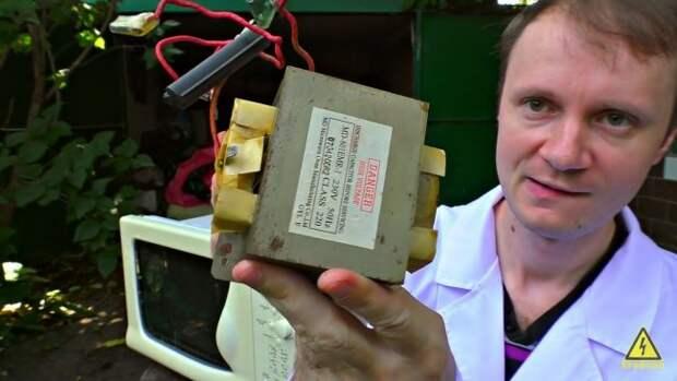 Сварочный аппарат из микроволновки