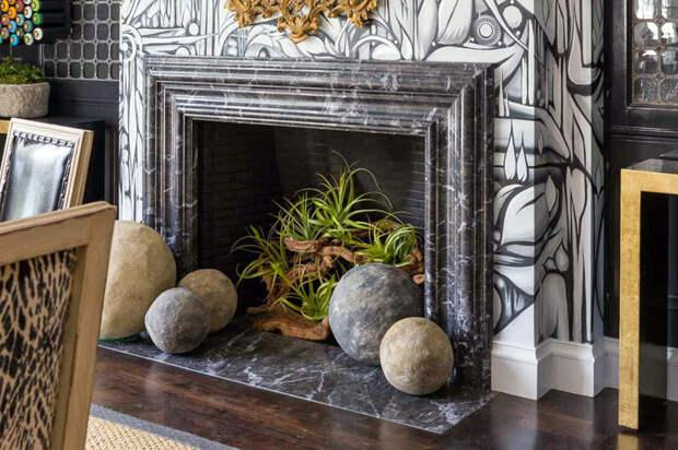 Декоративный камин в интерьере. Красивые примеры оформления фальш-камина