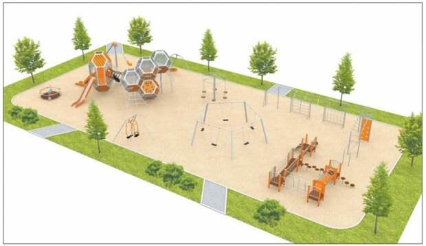 Администрация города Конаково представила жителям макет новой детской зоны