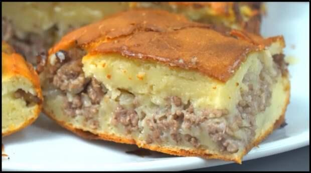 КЕФИР + ФАРШ — муж готовит ленивый пирог, который по вкусу как беляш
