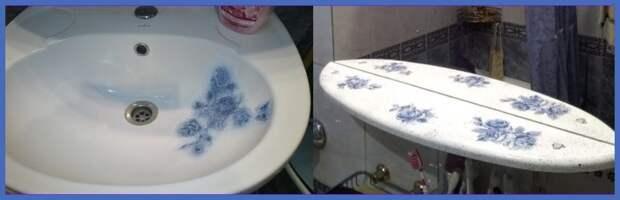 Как я продлила жизнь разбитой раковине и облупившейся полке в ванной комнате