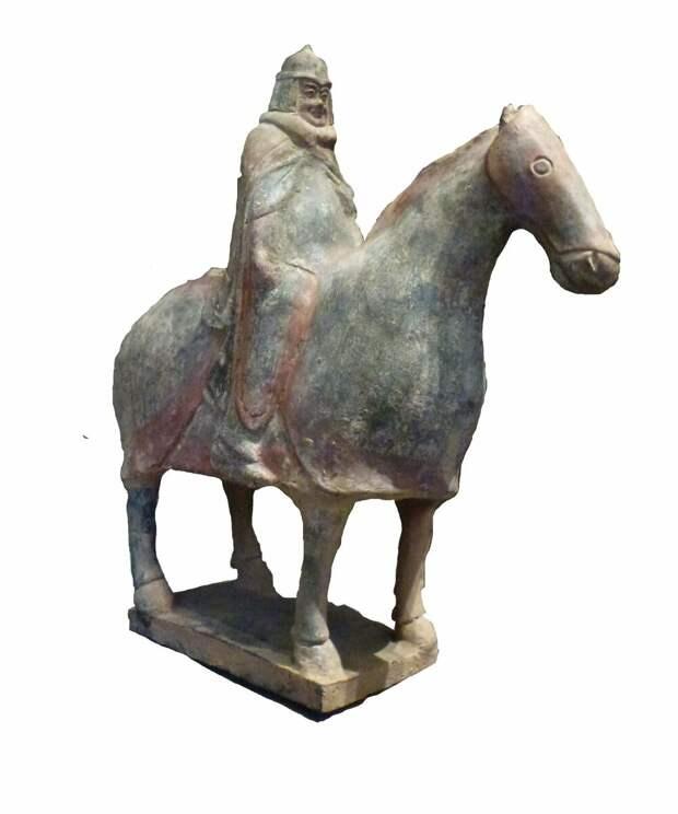 Китайская статуэтка всадника IV век н.э.