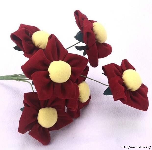 Ручная работа. Цветы из ткани (52) (615x611, 156Kb)