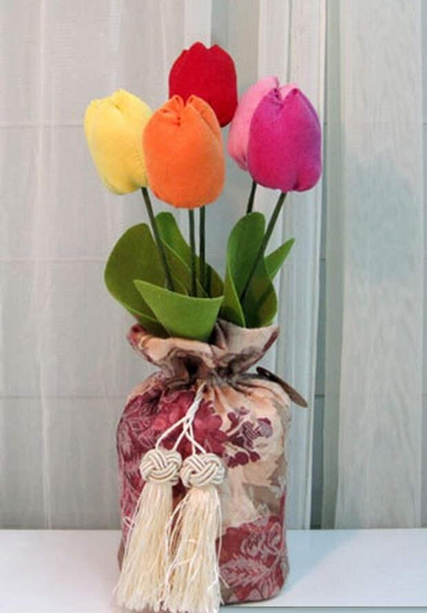 Ручная работа. Цветы из ткани (65) (393x565, 140Kb)