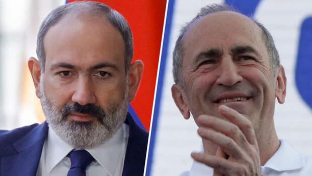 Пашинян и Кочарян столкнулись на парламентских выборах
