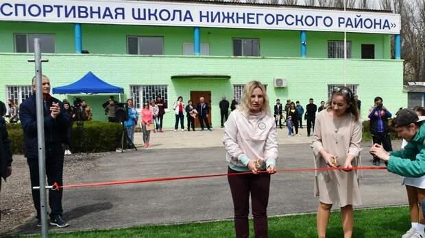 Министр спорта РК Ольга Торубарова посетила Нижнегорский район
