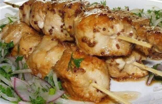Вкуснейший шашлык из курицы в духовке